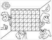 Kids brushing chart blank