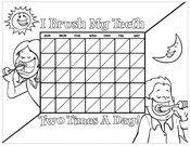 Kids brushing chart